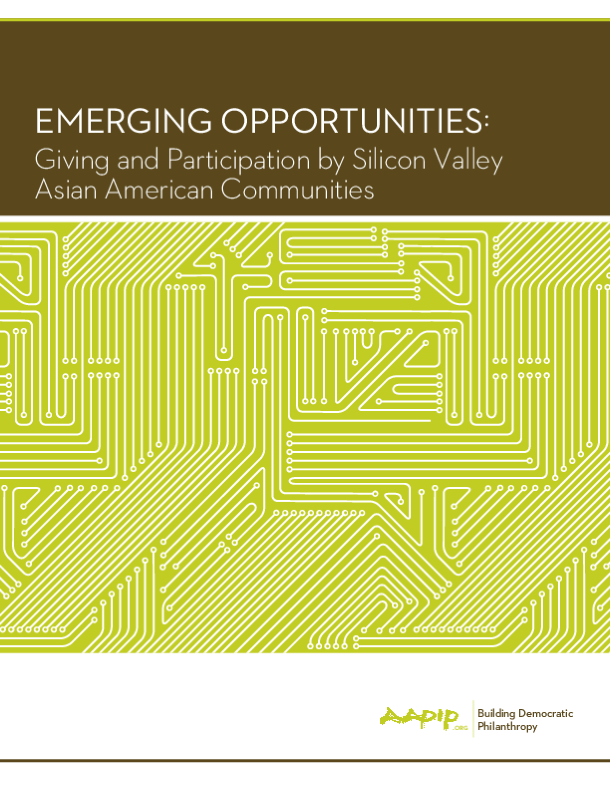 Emerging Opportunities: Giving and Participation by Silicon Valley Asian American Communities