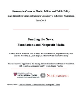 Funding the News: Foundations and Nonprofit Media