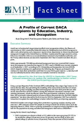 A Profile of Current DACA Recipients by Education, Industry, and Occupation