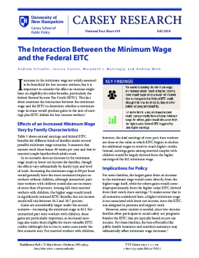The Interaction Between the Minimum Wage and the Federal EITC