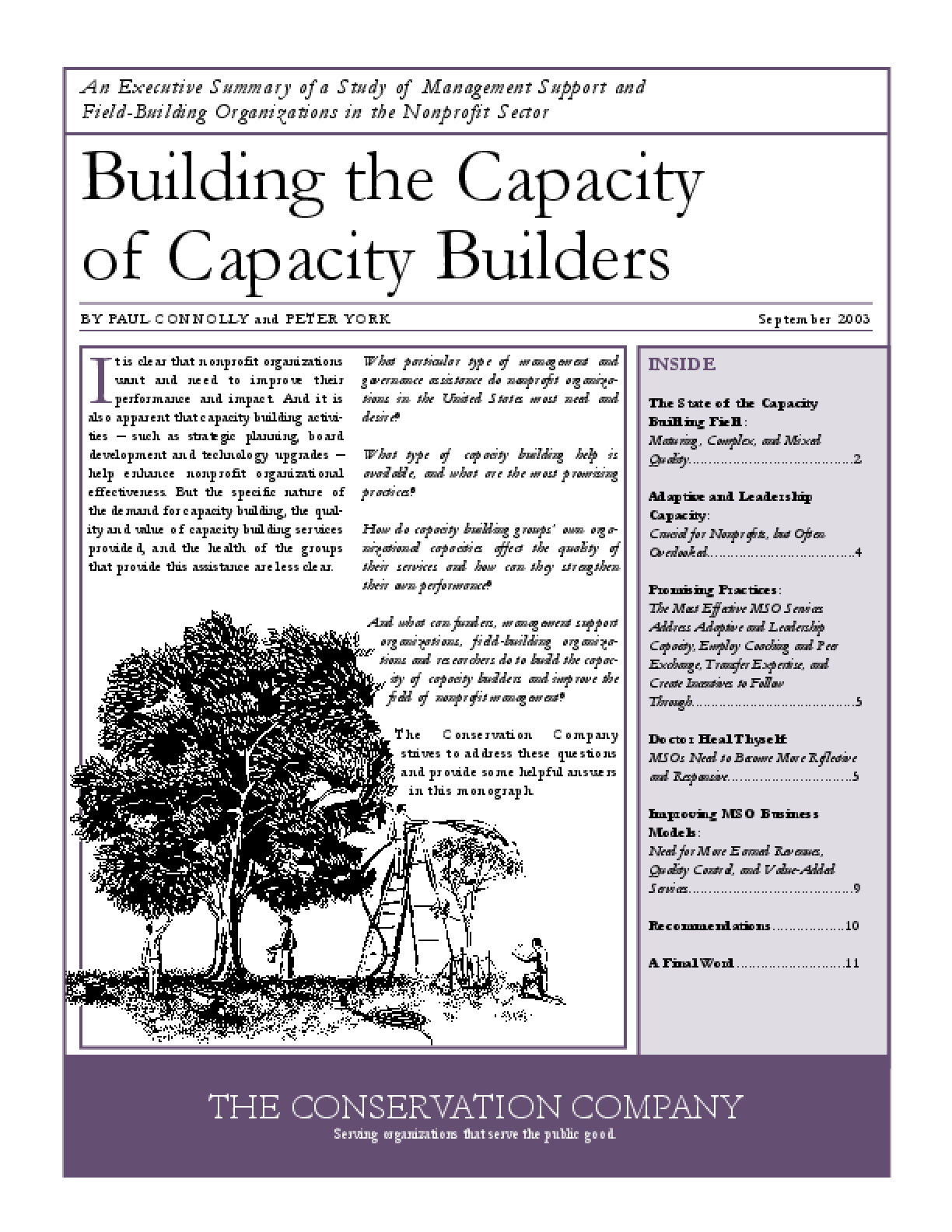 Building the Capacity of Capacity Builders: A Study of Management Support and Field-Building Organizations in the Nonprofit Sector