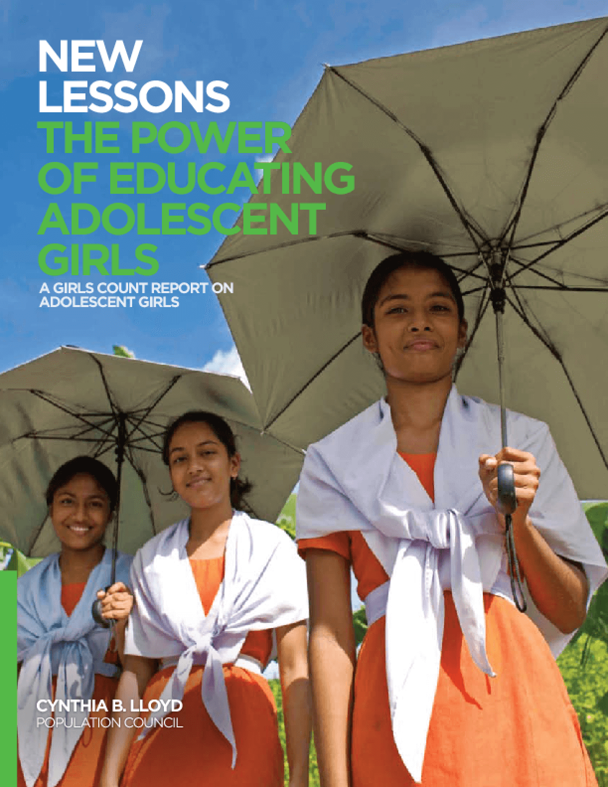 New Lessons: The Power of Educating Adolescent Girls