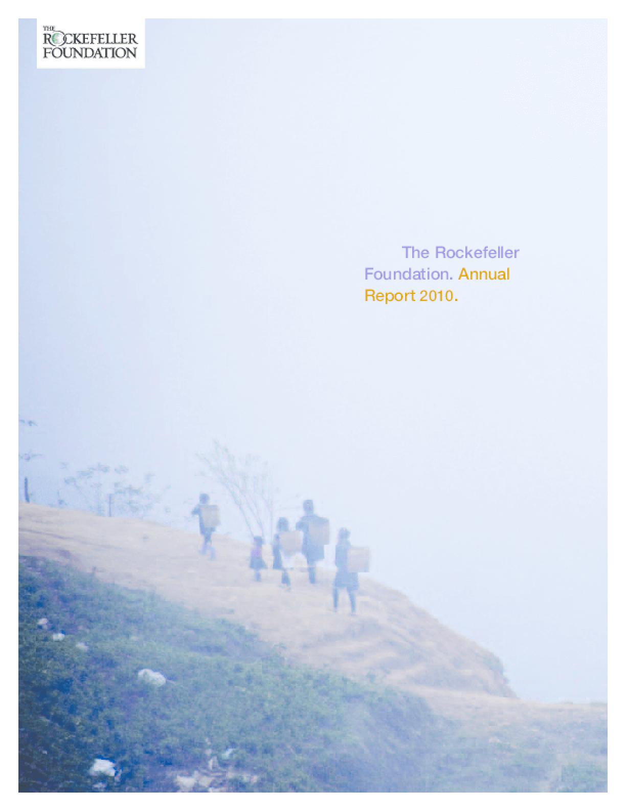 Rockefeller Foundation 2010 Annual Report