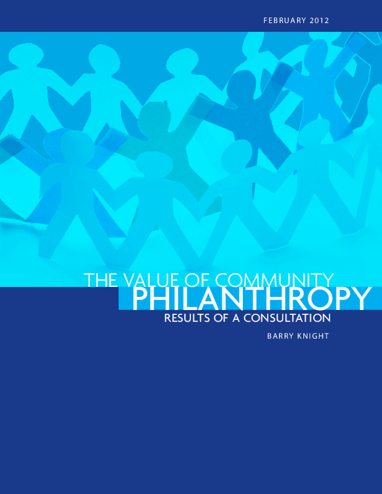 The Value of Community Philanthropy: Results of a Consultation