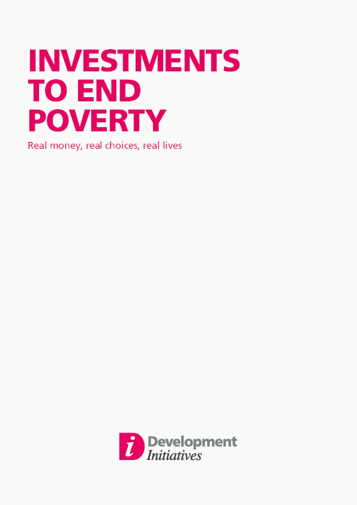 Investments to End Poverty