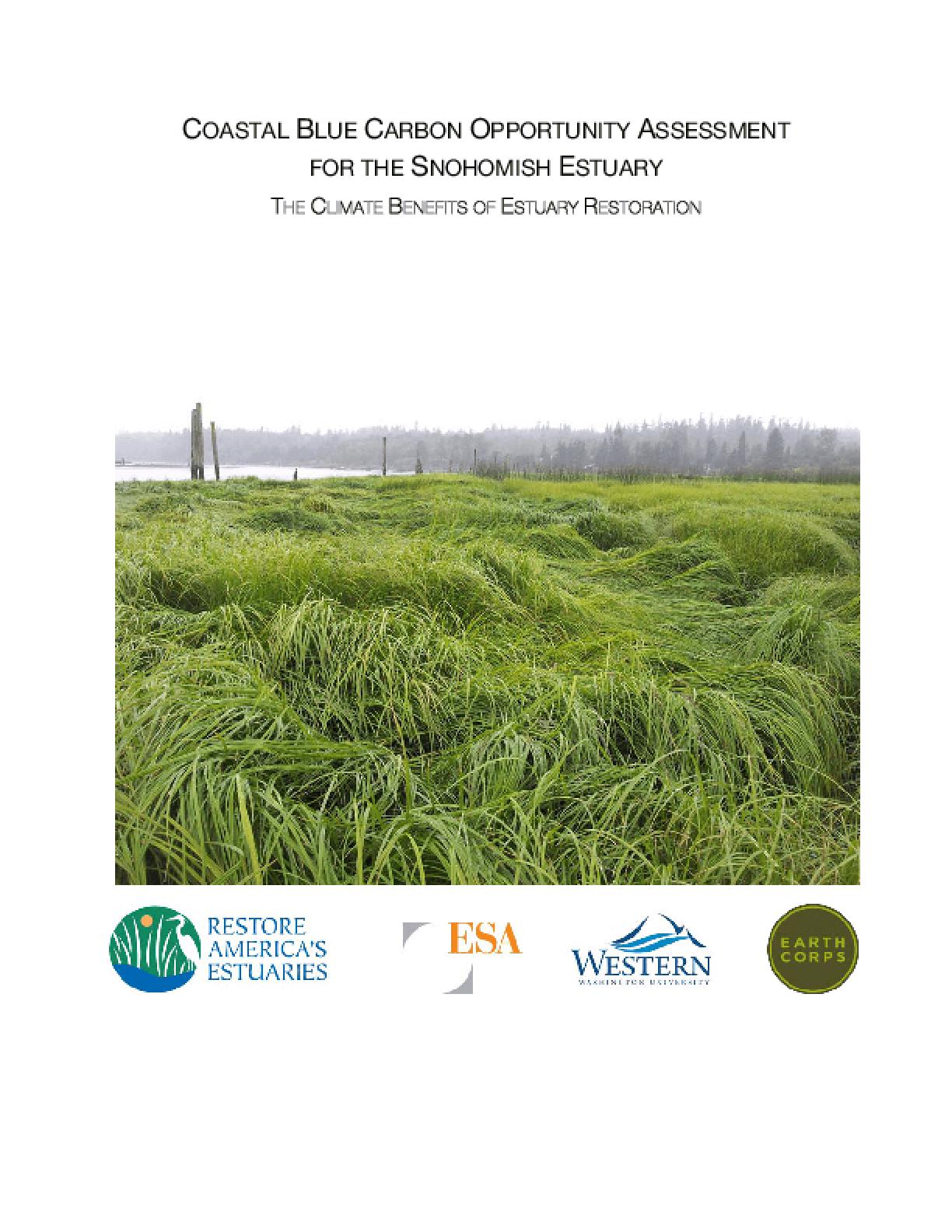 Coastal Blue Carbon Opportunity Assessment for Snohomish Estuary: The Climate Benefits of Estuary Restoration