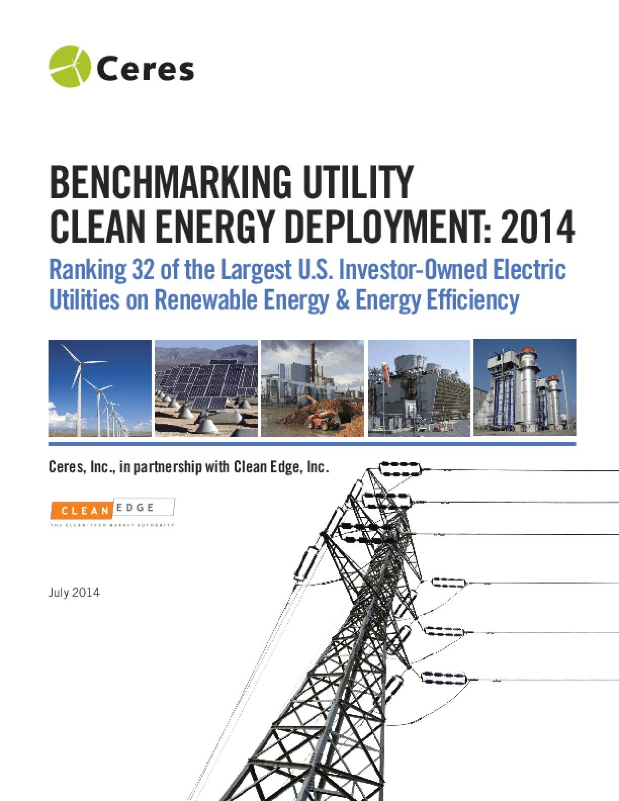 Benchmarking Utility Clean Energy Deployment: 2014