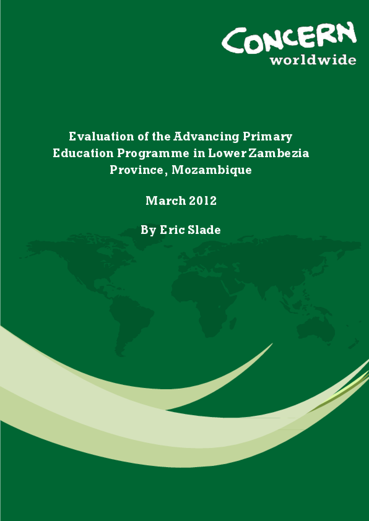 Evaluation of the Advancing Primary Education Programme in Lower Zambezia Province, Mozambique