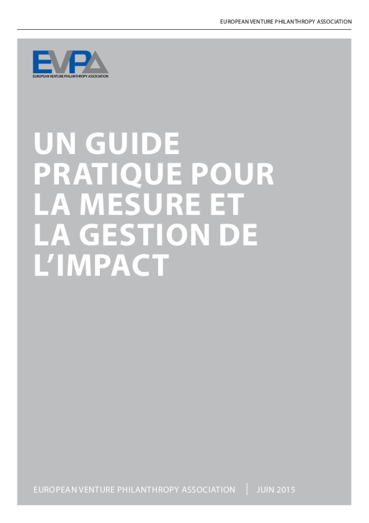 Un guide pratique pour la mesure et la gestion de l'impact