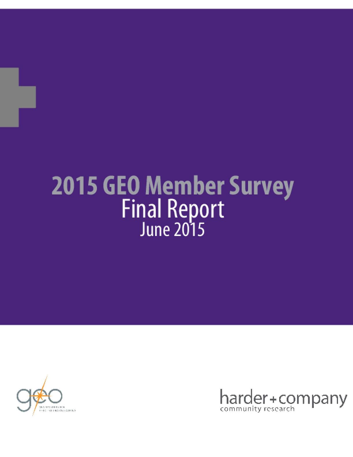 2015 GEO Member Survey Final Report