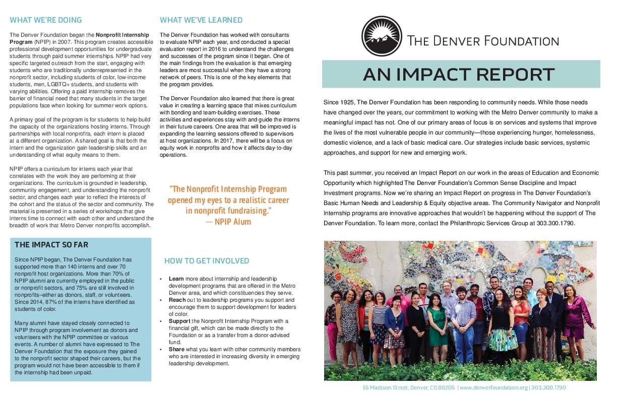 The Denver Foundation: An Impact Report