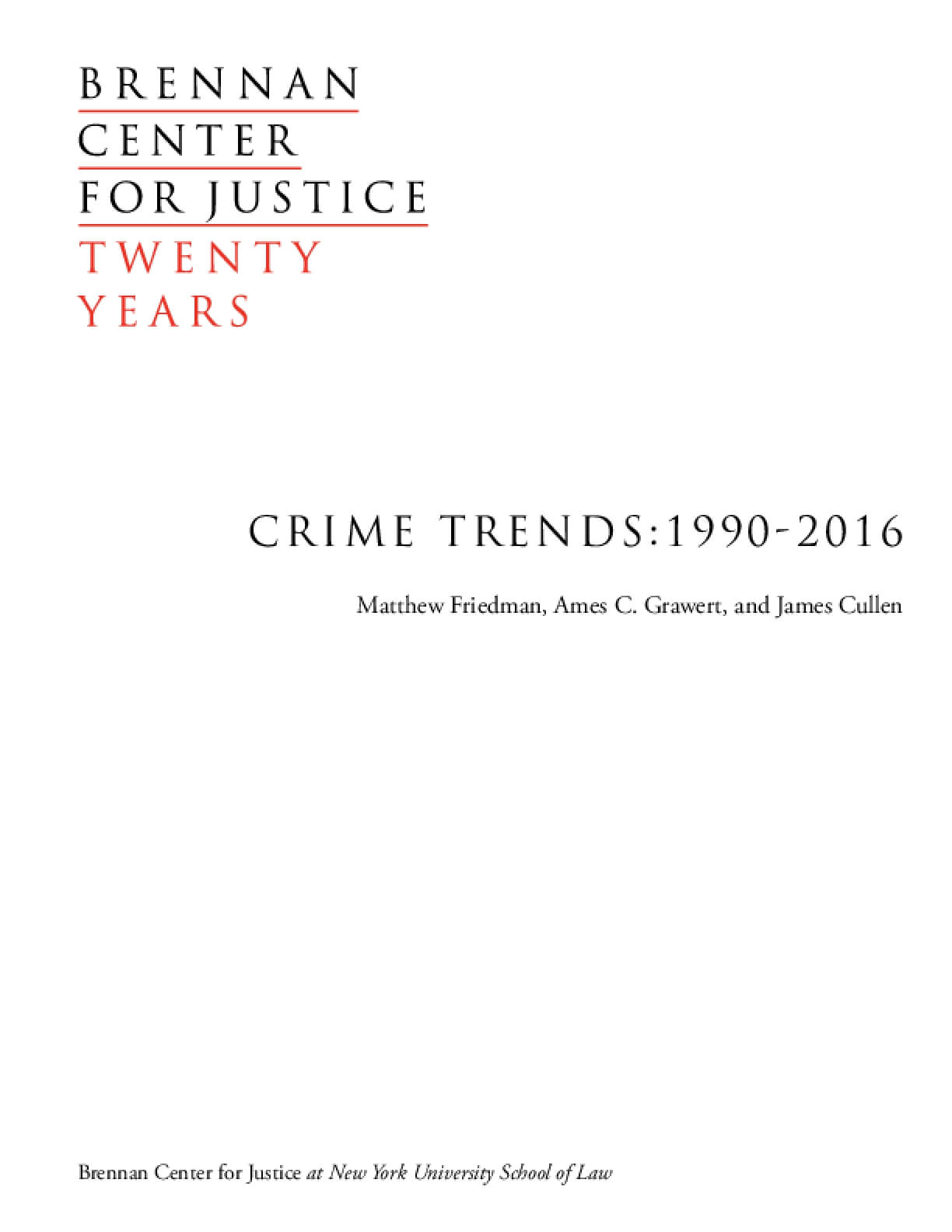 Crime Trends: 1990-2016