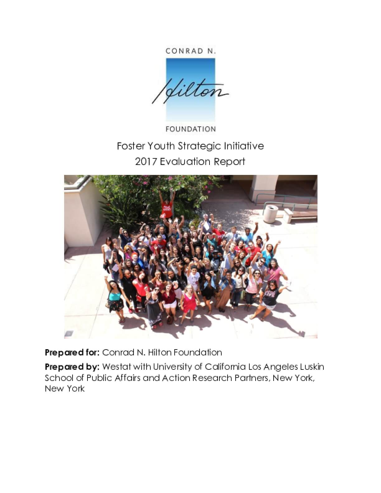 Foster Youth Strategic Initiative: 2017 Evaluation Report