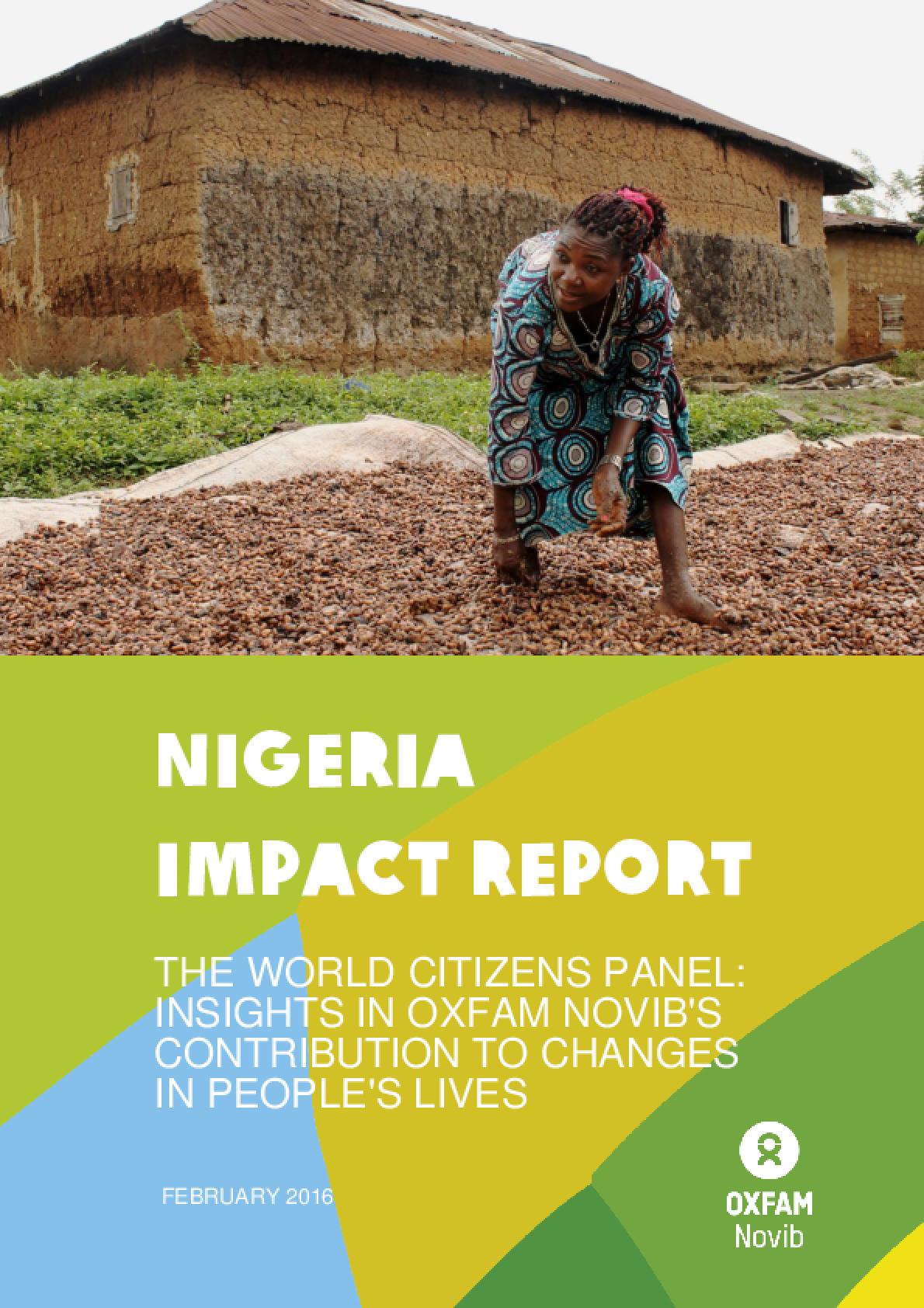 Nigeria Impact Report: The World Citizens Panel