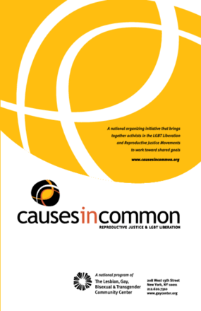 Causes in Common: Reproductive Justice & LGBT Liberation
