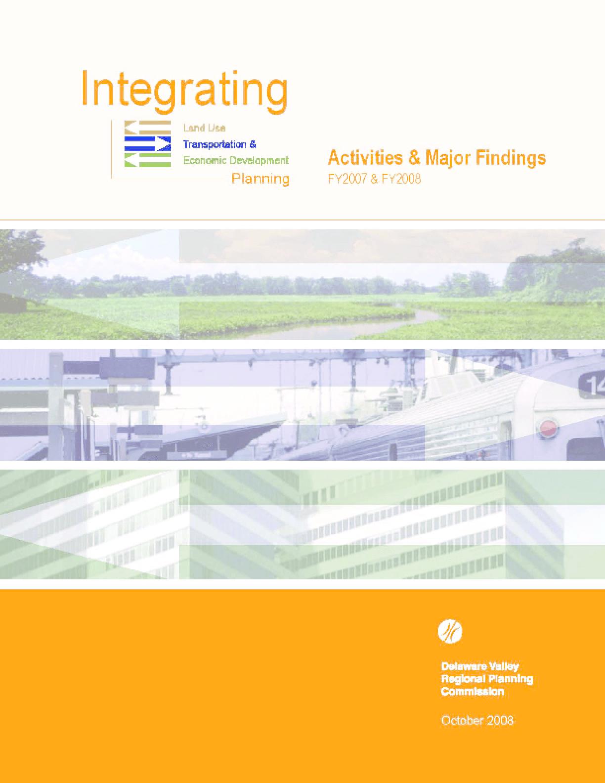 Integrating Land Use Transportation & Economic Development