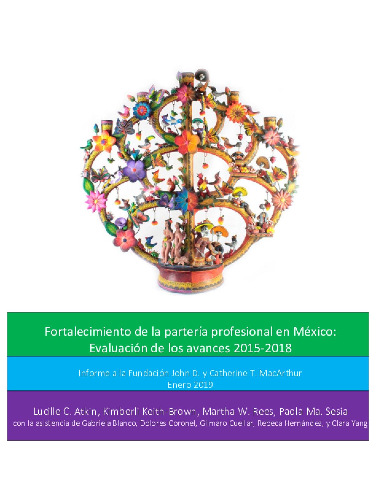 Fortalecimiento de la Partería Profesional en México: Evaluación de los Avances 2015-2018