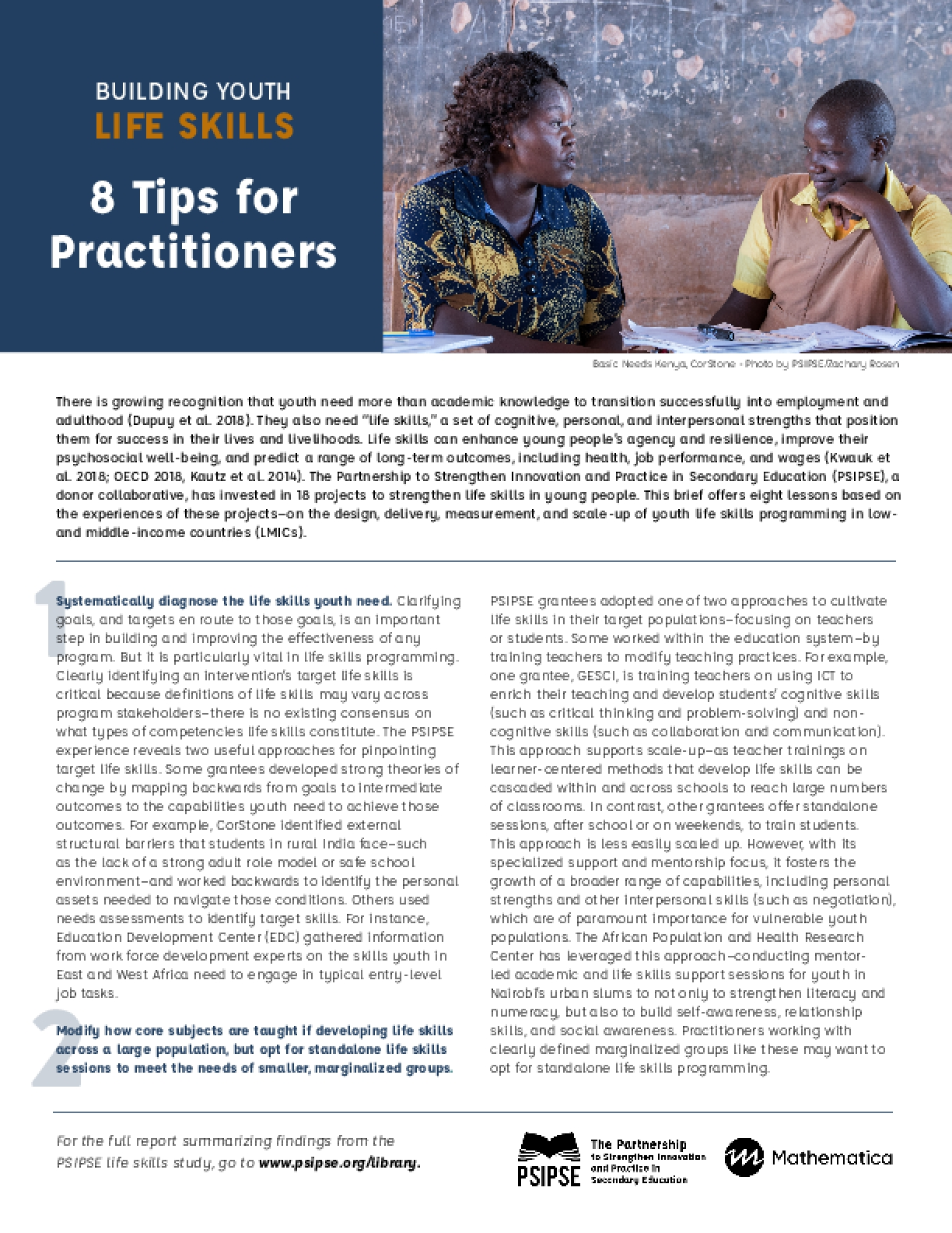 Building Youth Life Skills: 8 Tips for Practitioners