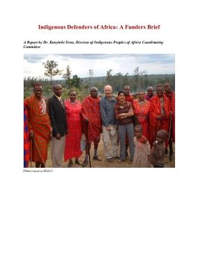 Indigenous Defenders of Africa: A Funders Brief