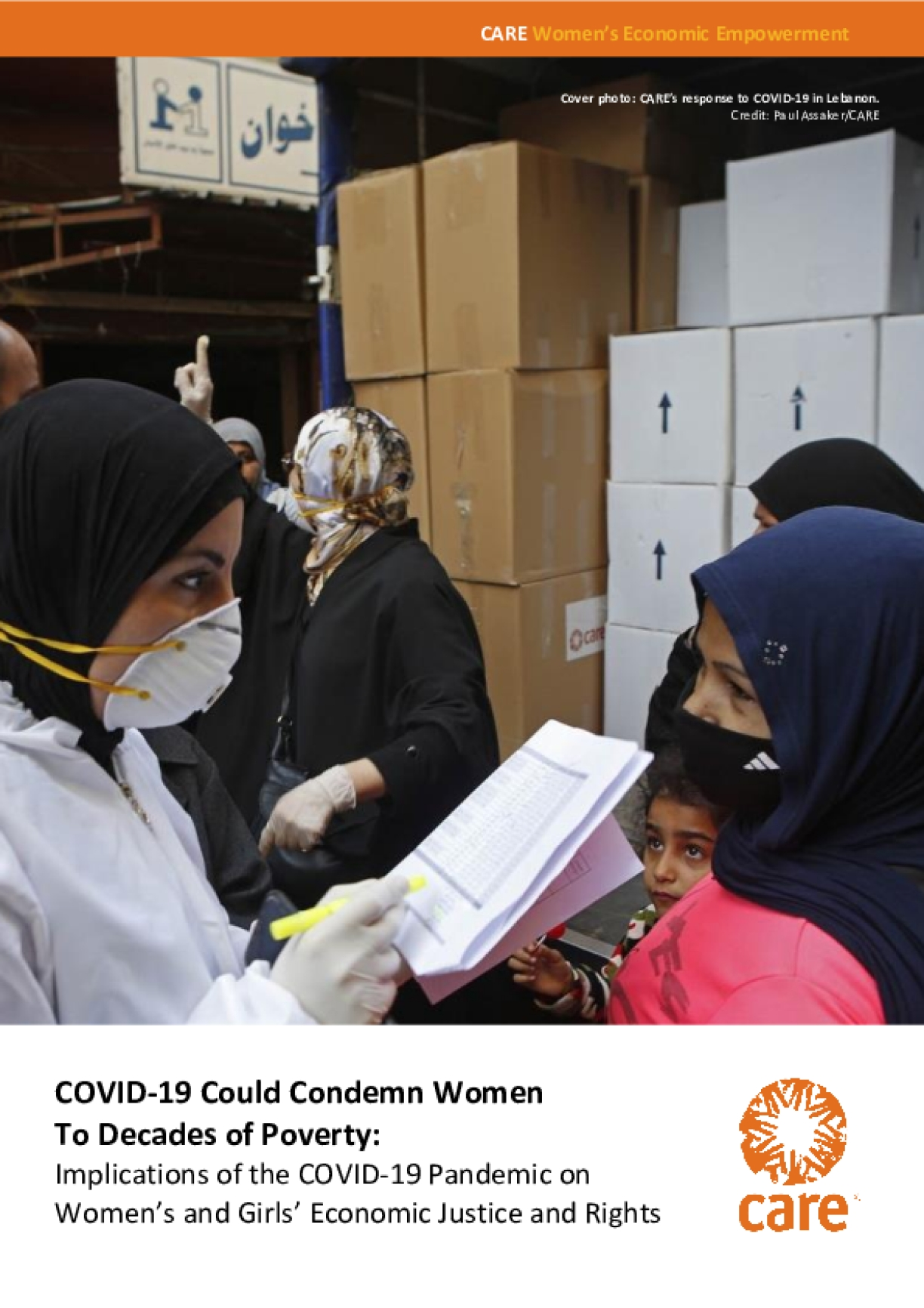 COVID-19 Could Condemn Women To Decades of Poverty: Implications of the COVID-19 Pandemic on Women's and Girls' Economic Justice and Rights