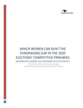 Which Women Can Run?: The Fundraising Gap in the 2020 Elections' Competitive Primaries
