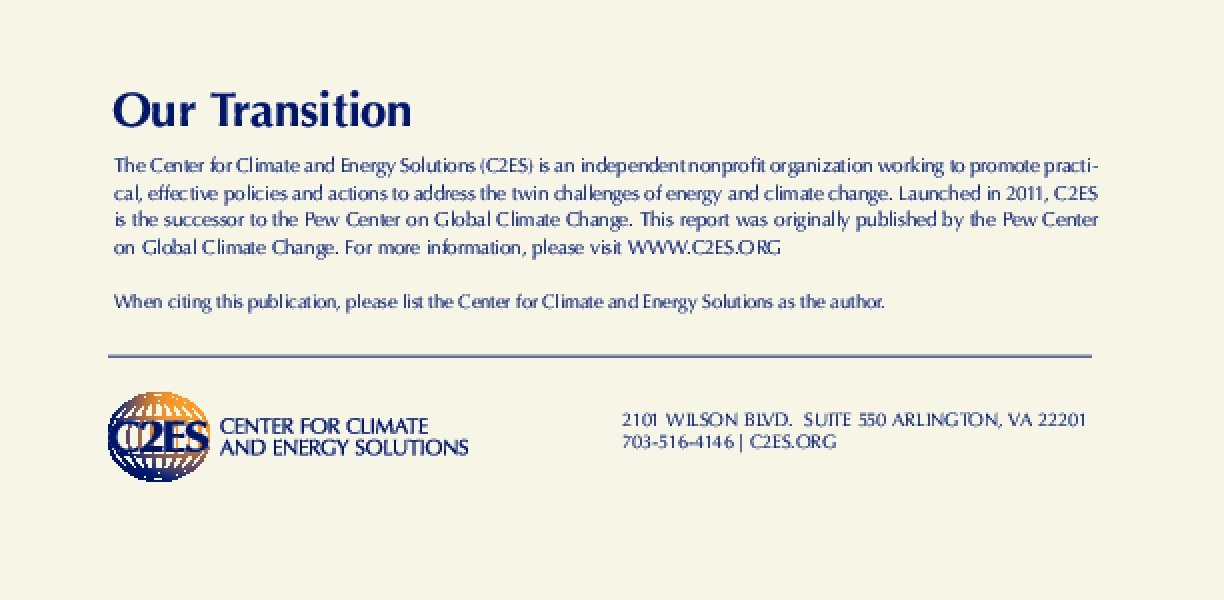Climate Change 101: Understanding and Responding to Global Climate Change: January 2011 Update