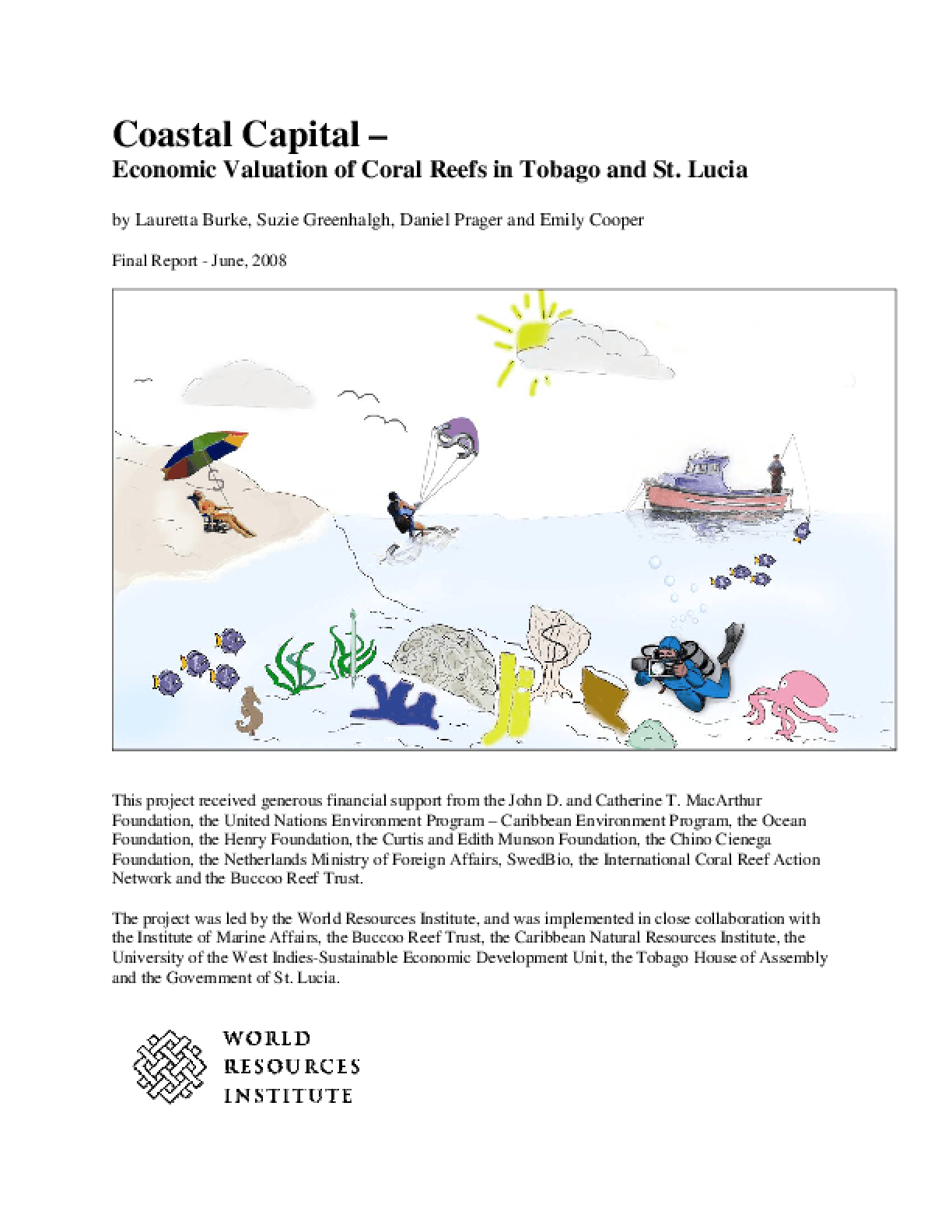Coastal Capital -- Economic Valuation of Coral Reefs in Tobago and St. Lucia